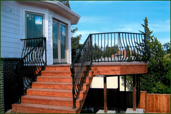 Wrought Iron Hand Railings San Mateo
