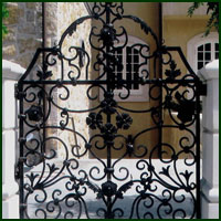 Wrought Iron Gate San Mateo