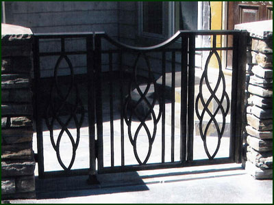 Wrought Iron Garden Gate - Redwood City